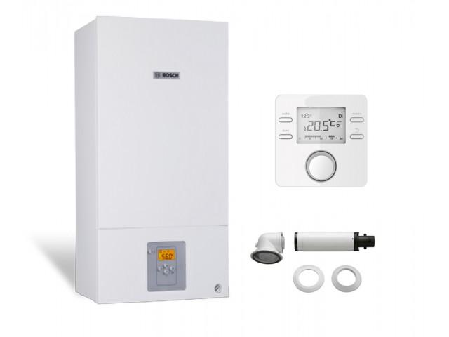 Промо пакет двуконтурен газов котел Bosch Condens 2500W WBC 28-1 DСE 23