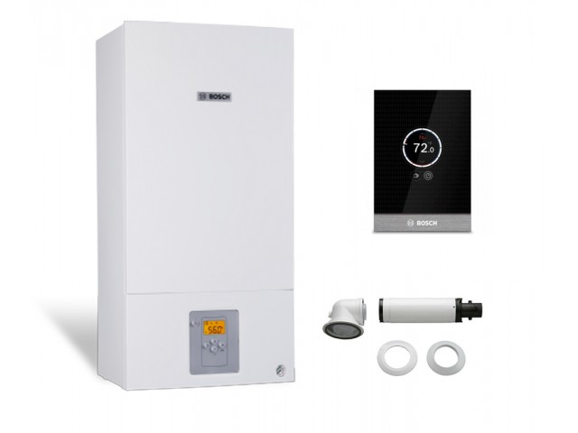 Промо пакет едноконтурен газов котел Bosch Condens 2500W WBC 24-1 DE 23 & CT 100