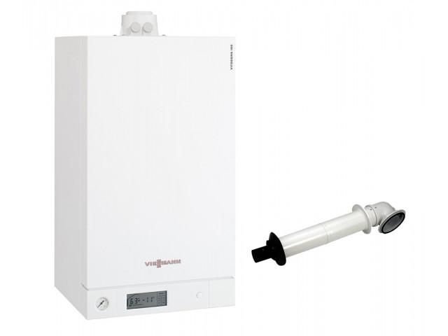 Промо пакет двуконтурен газов котел Viessmann Vitodens 100-W 5.9 - 34.9