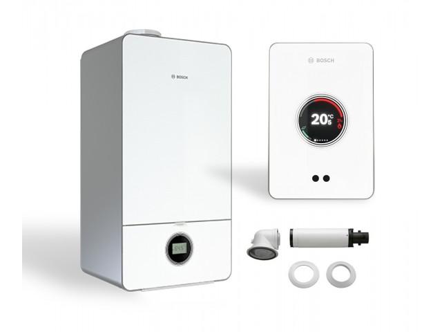 Промо пакет газов двуконтурен котел Bosch Condens 7000iW 20/24 C 23 & CT 200,бяло