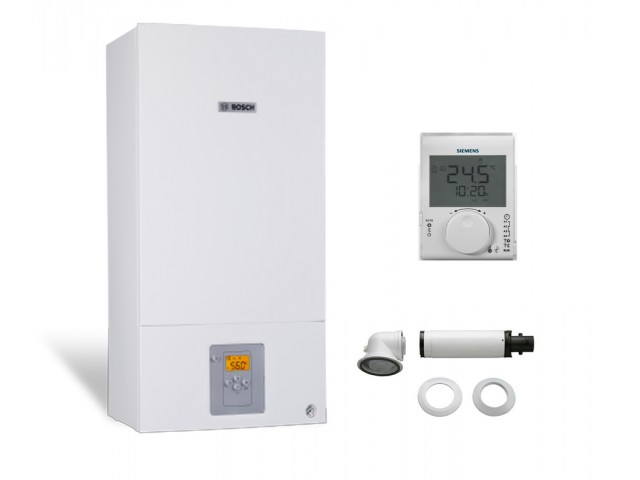 Промо пакет двуконтурен газов котел Bosch Condens 2500W WBC 28-1 DСE 23 & Wireless controller Siemens