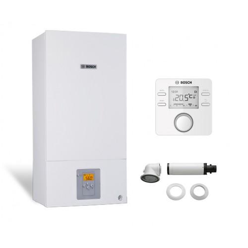 Промо пакет двуконтурен газов котел Bosch Condens 2500W WBC 28-1 DСE 23 & CR100