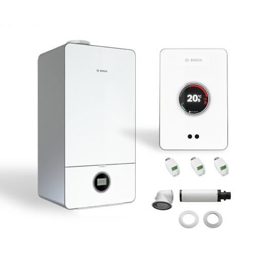Промо пакет двуконтурен газов котел Bosch  Condens 7000iW 20/24 C 23 & CT 200,бяло & 3 x Valves
