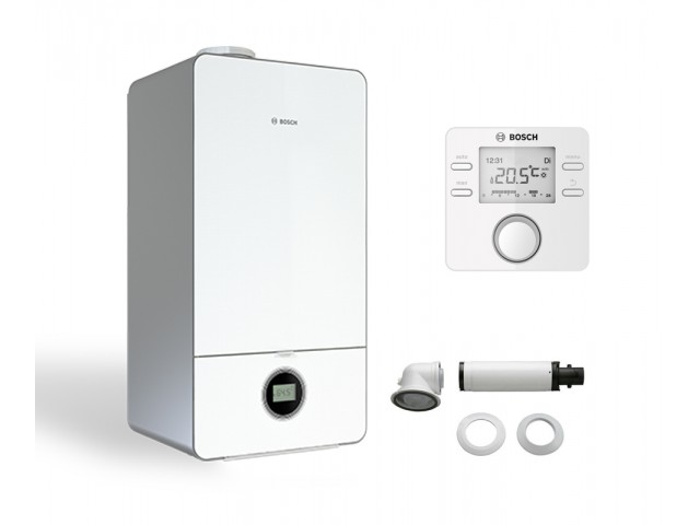 Промо пакет двуконтурен газов котел Bosch Condens 7000iW 20/24 C 23 & CR100