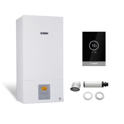 Промо пакет двуконтурен газов котел Bosch Condens 2500W WBC 28-1 DСE 23 & CТ 100