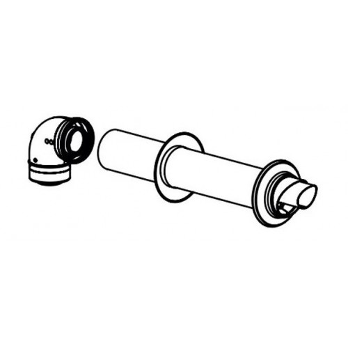 Хоризонтален димоход - комплект - 60/100 EKFGP2978